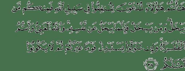 Surat Muhammad ayat 38