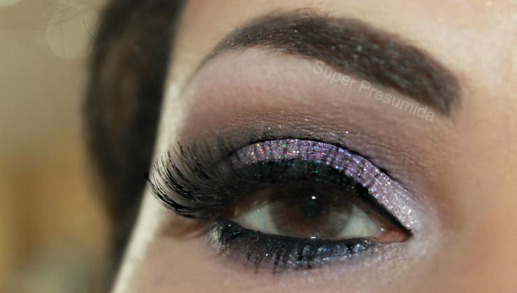 maquiagem +lilás+glitter+super+presumida