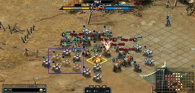 game chiến thuật Cửu Phạt Trung Nguyên với đội hình mỗi bên lên đến 50 đội quân rải đều khắp trận đấu làm cho game thủ không khỏi choáng ngợp