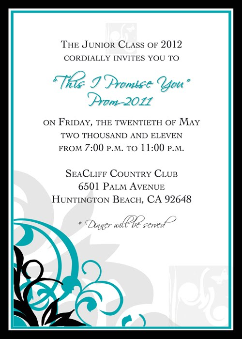 Prom Invitation Templates Jcmanagementco - Class party invitation template