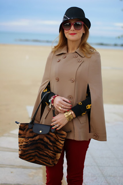 Camel cape coat, Persunmall cape, Denny Rose hat, Fashion and Cookies, fashion blogger