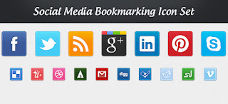 Social media Bookmarking icons