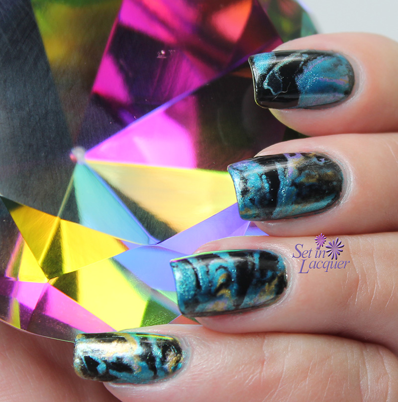 Shaving Cream Marble Nail Art