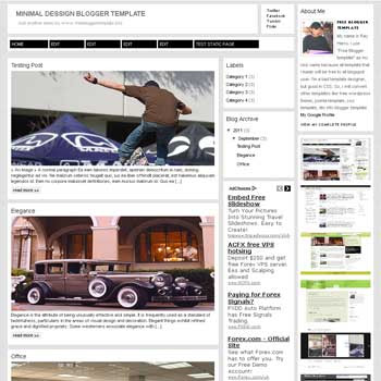 Minimal Dessign blogger template. 3 column blogspot template