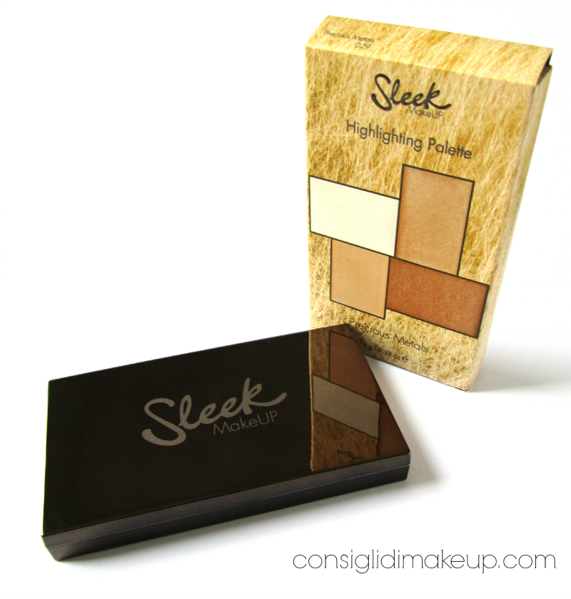 Highlighting Palette Precious Metals - Sleek MakeUP [Swatch e prime impressioni]