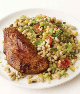 Chili-Rubbed Turkey Cutlets with Black-Eyed Peas