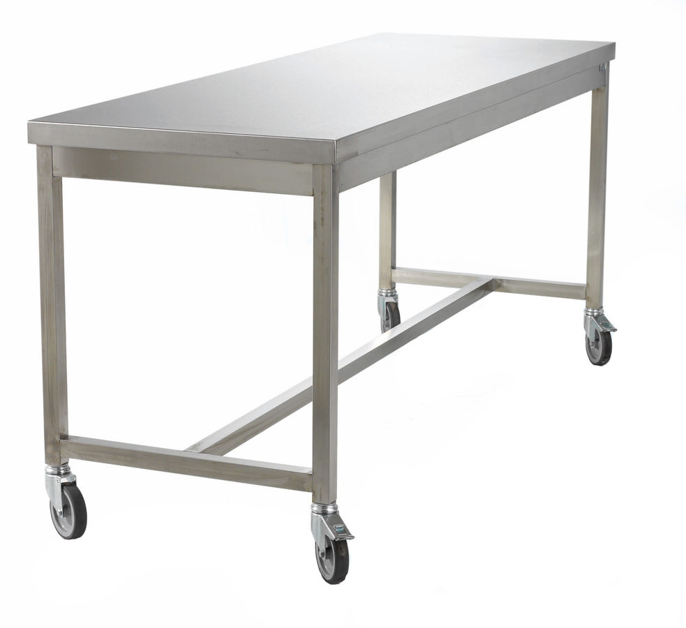 Stainless steel prep table for Table travail inox