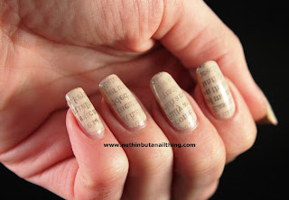 newspaper nails tutorial