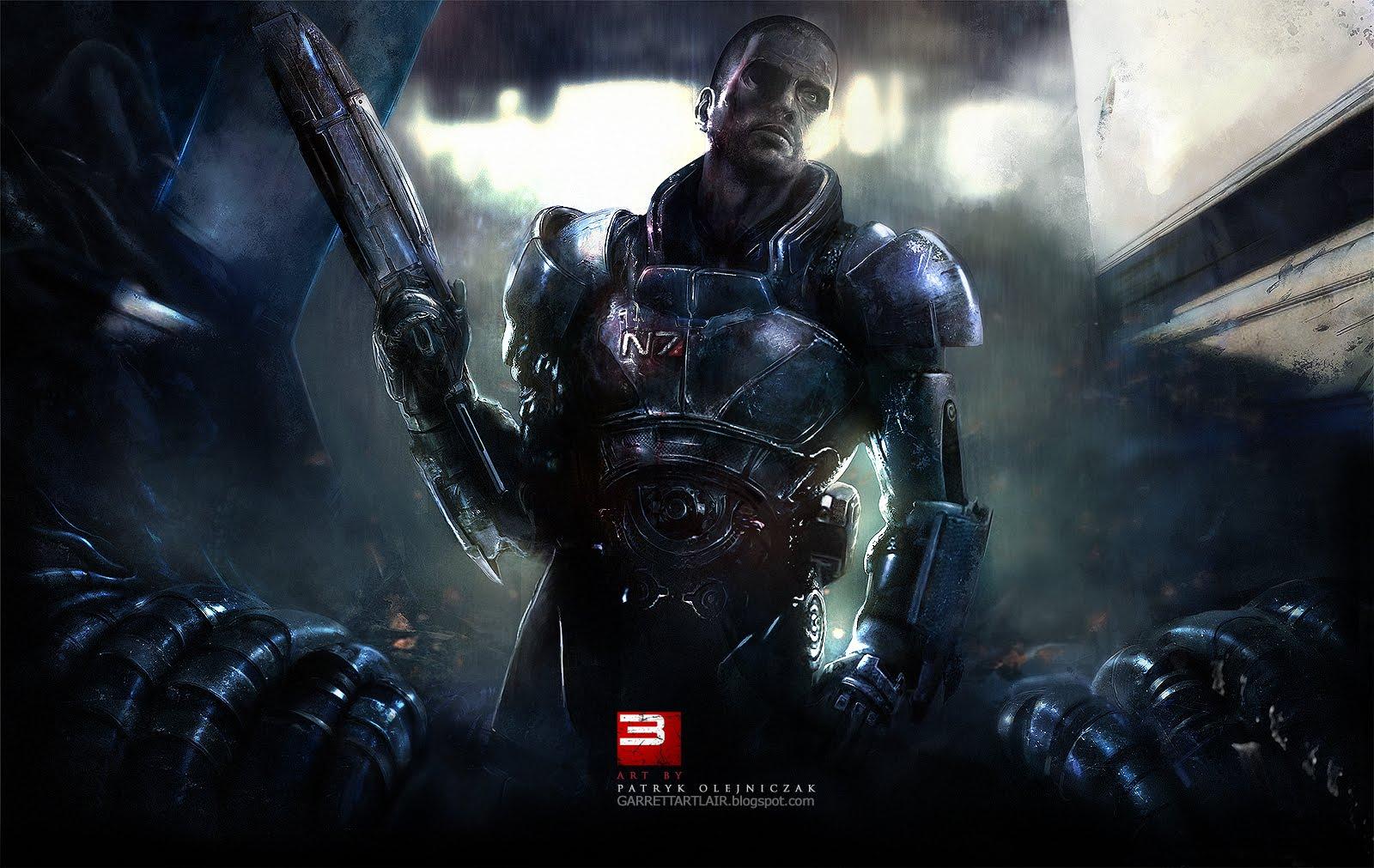 Garrett Art Lair Mass Effect 3 Teaser Wallpaper