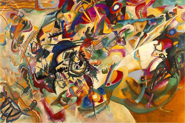 oleo kandinsky, cuadro abstracto