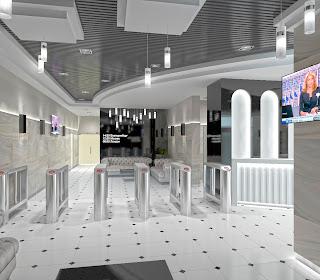 Дизайн холла бизнес центра