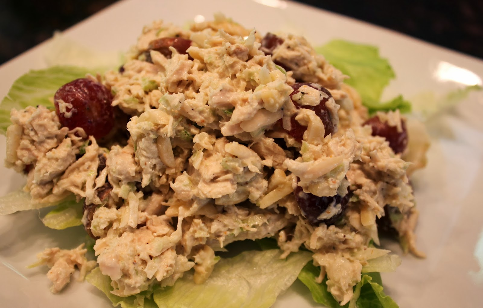 Kelly's Healthified Kitchen: Paleo Chicken Salad with Grapes & Almonds