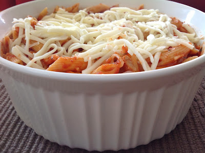 Baked Penne with Italian Sausage and Mozzarella Cheese
