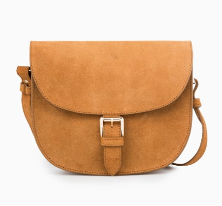 Mango Buckle Suede Bag