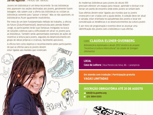 Workshop PROLER e do Instituto Goethe no Rio de Janeiro: Como atrair os jovens para o mundo da leitura
