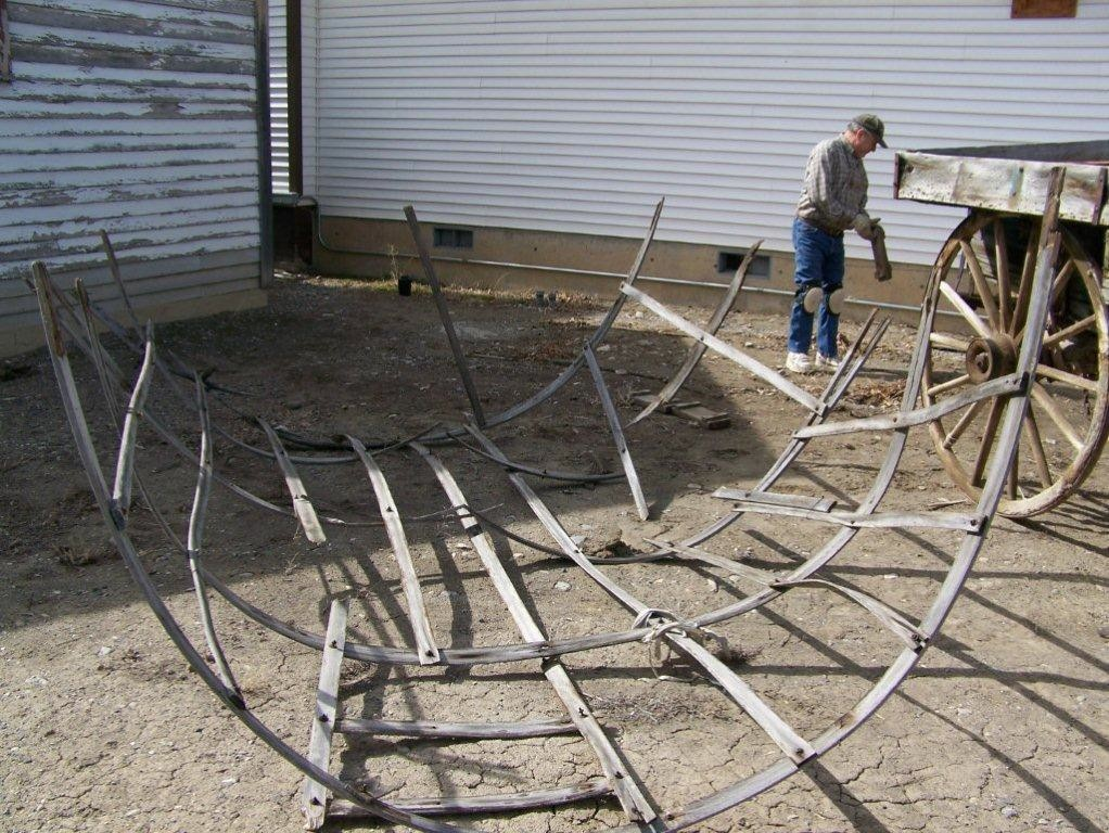 On April 15, 2012, Leonard Wall Donated His Trailer To Haul The Sheep Wagon  To Restoration Site. Below, Leonard Wall And Dave Wilson Planning How To  Load ...