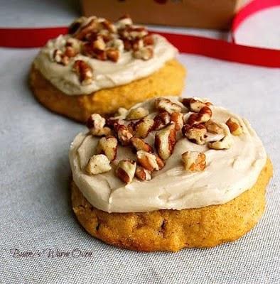 Bunny's Warm Oven: Pumpkin Cookies with Penuche Frosting