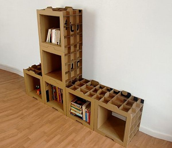 How to Recycle: 9 Creative Bookshelves Out of Recycled Cardboard
