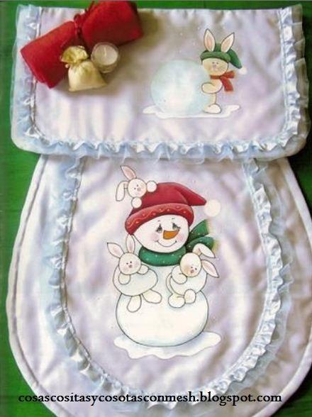 Juegos De Baño Moldes:Moldes para juegos de baño navideños ~ cositasconmesh