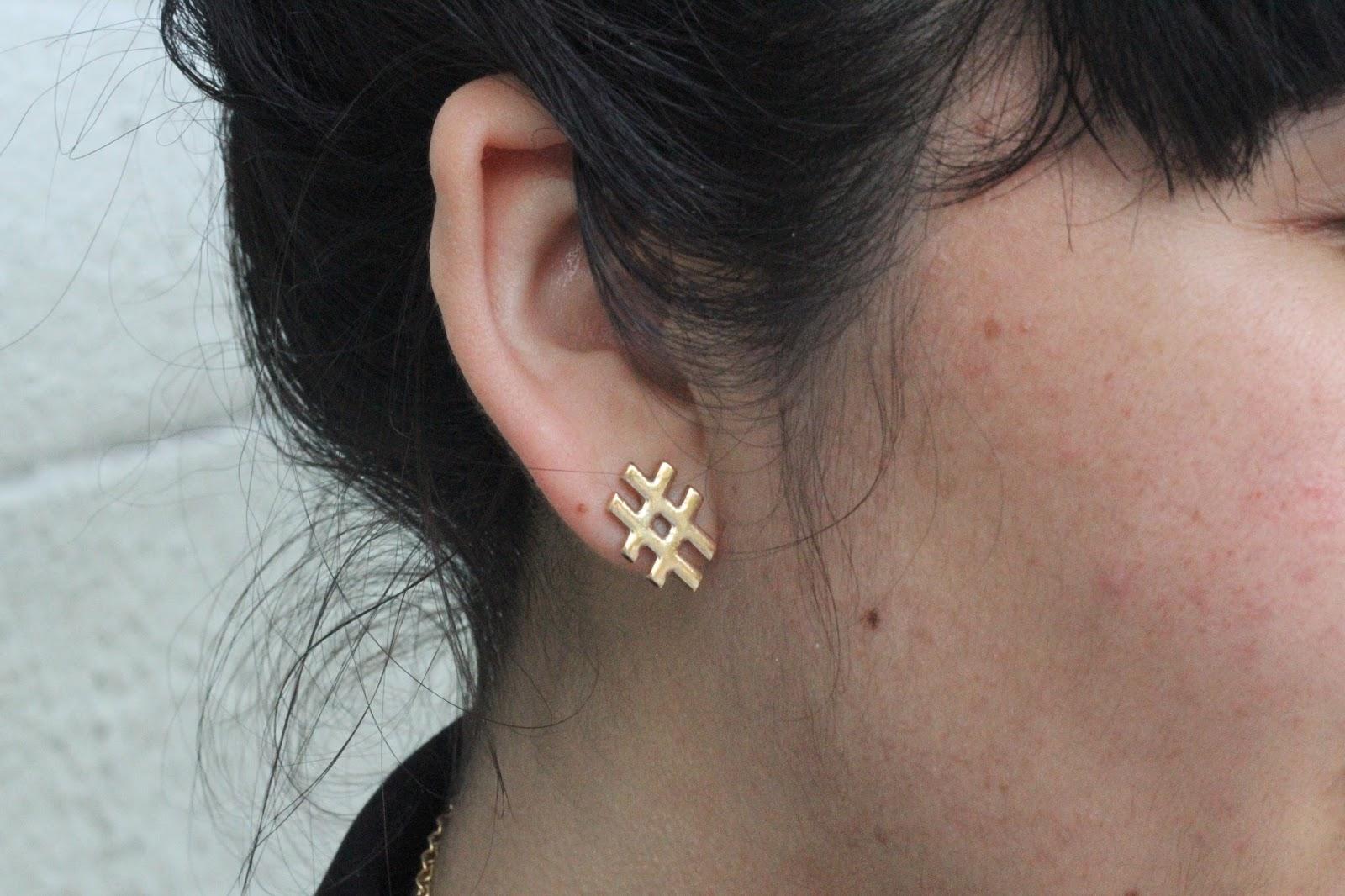 Hashtag Earring