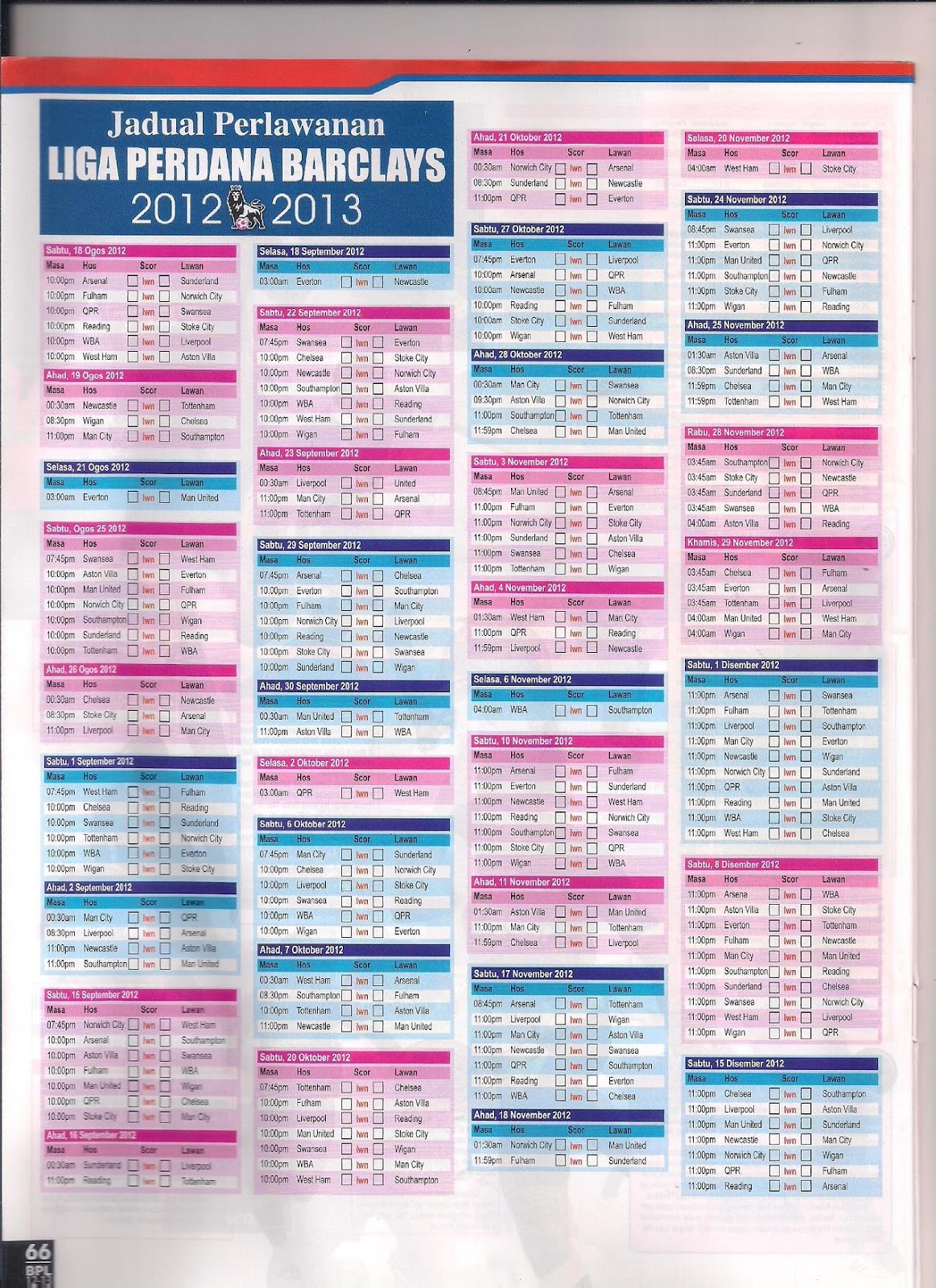 Liga Perdana Inggeris bagi musim 2012/2013 baru sahaja bermula pada 18