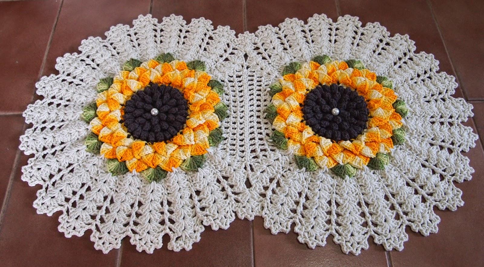Tapetes de Barbantes com Flores – Fotos e modelos iOnline - Fotos De Tapete De Barbante Com Flores