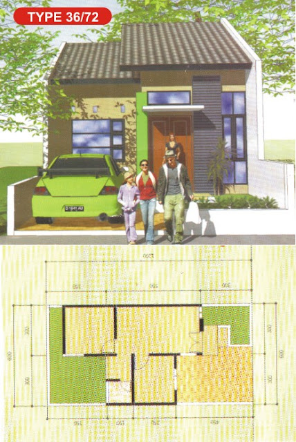 Desain Rumah Minimalis Tipe 36/72