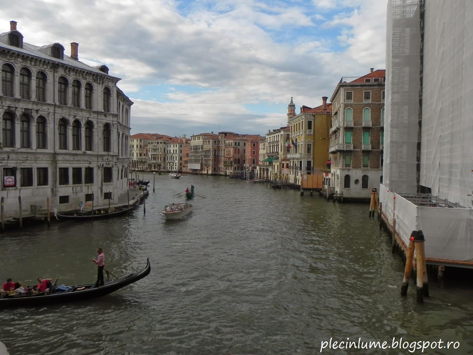 Canal Grande vazut de pe podul Rialto