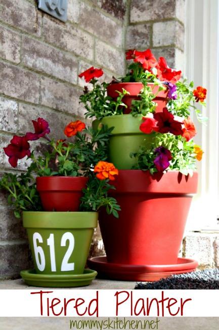 rust oleum glow in the dark paint flower pots. diy terra cotta tiered planter with rust-oleum paint rust oleum glow in the dark flower pots