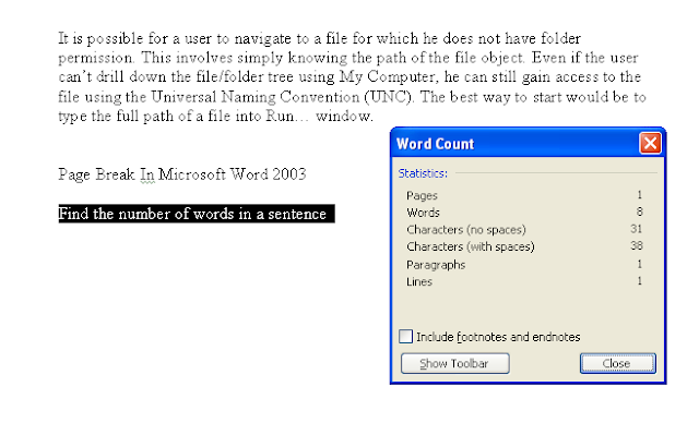 how to find number of words in word document mac