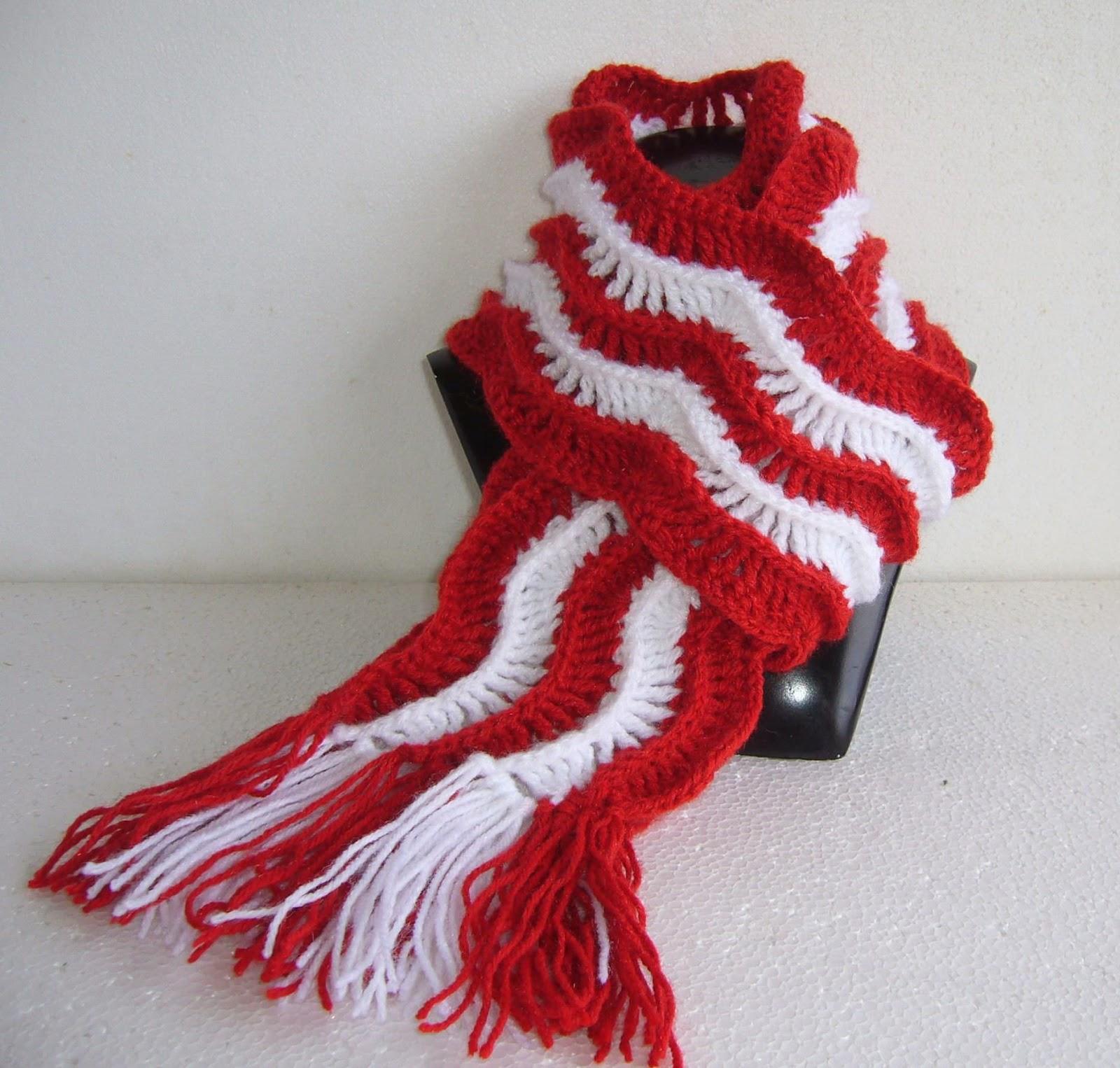 Serenity ripple scarf