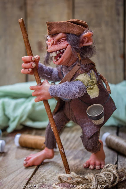 house elf ooak fantasy art doll