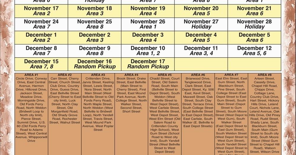 the press online  city leaf pickup schedule