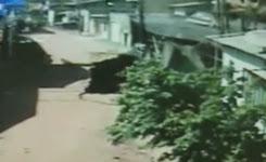Giant sinkhole swallows up Brazilian neighbourhood Mail Online