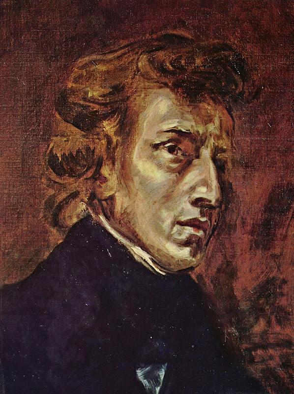 Eugène Ferdinand Victor Delacroix - Frederic Chopin