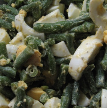egg and green bean salad