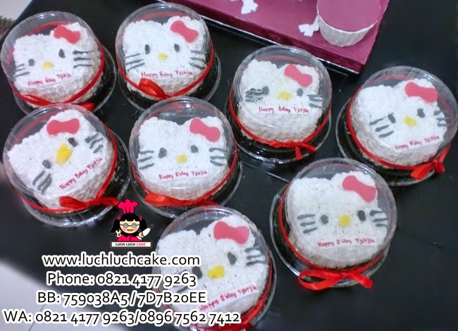 Mini Cake Hello Kitty Daerah Surabaya - Sidoarjo (REPEAT ORDER)