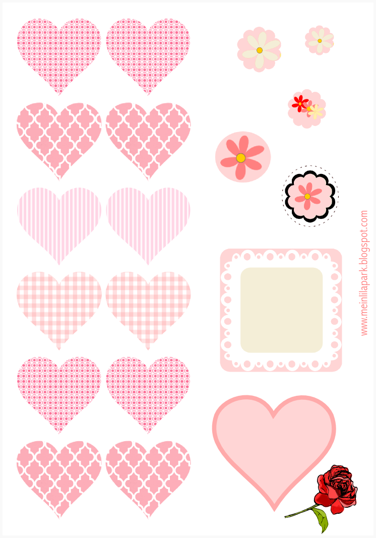 free printable heart tag and sticker sheet