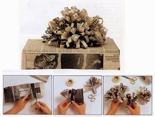 Paquetes de Regalo para Navidad con Papel de Diario, Manualidades Paso a Paso