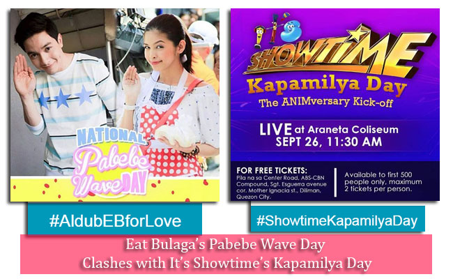 Eat Bulaga's Pabebe Wave Day Clashes with It's Showtime's Kapamilya Day