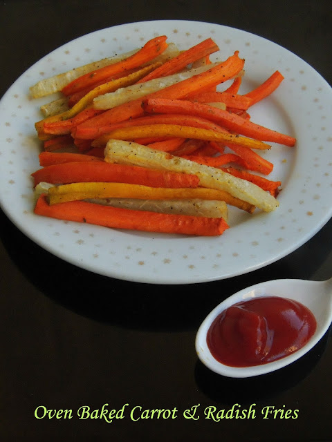 Oven Baked Carrot & radish french fries