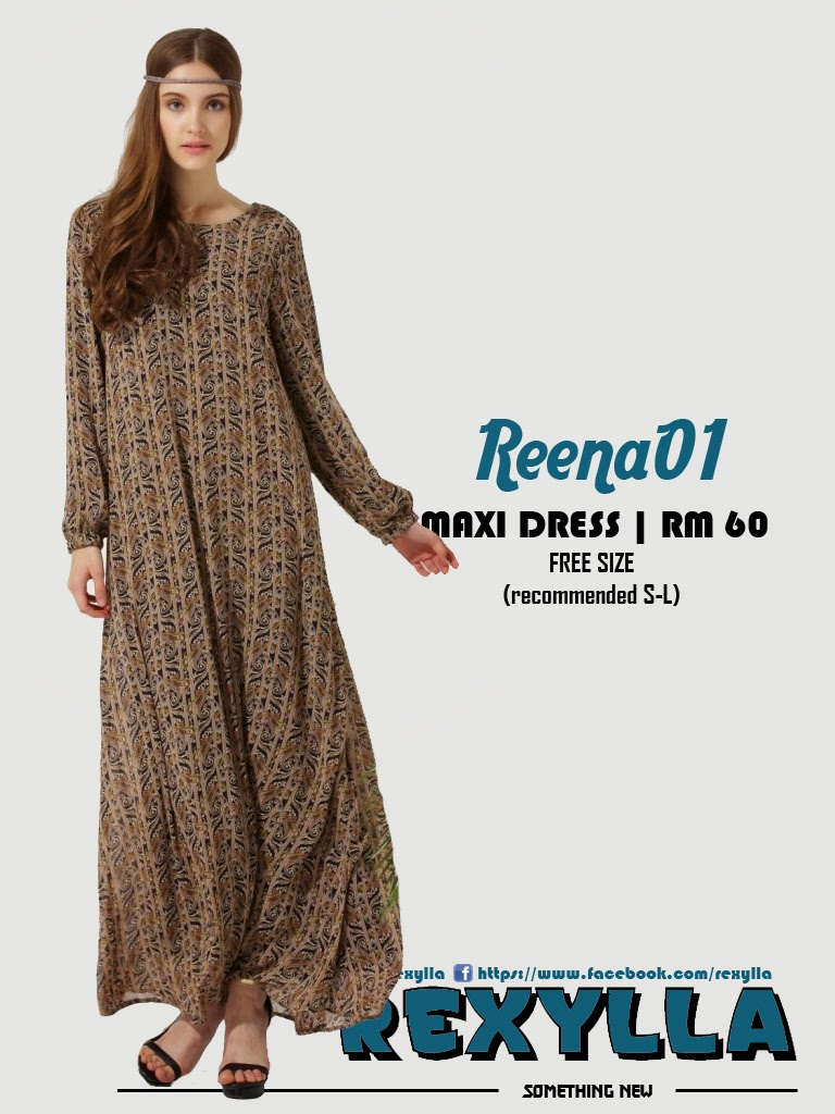 rexylla, maxi dress, printed dress, reena01
