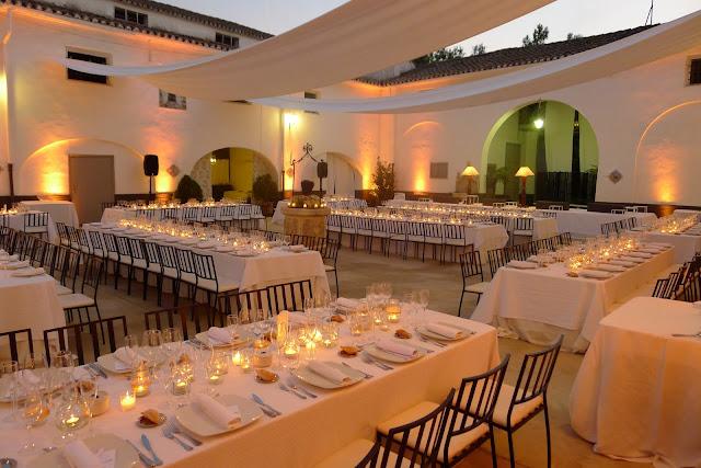 Decoración boda Valencia mesas imperiales mil velas