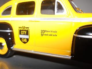 maqueta a escala de un taxi de nueva york