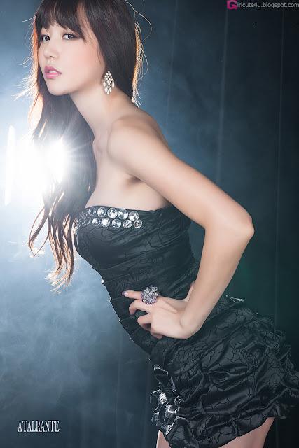 3 Hong Ji Yeon in Black-Very cute asian girl - girlcute4u.blogspot.com