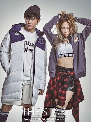 Heize B2ST Junhyung The Star Magazine December 2015