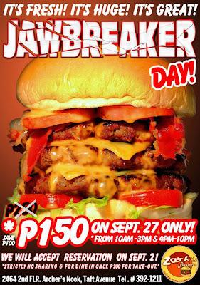 Iklan burger dari Zark's Burger