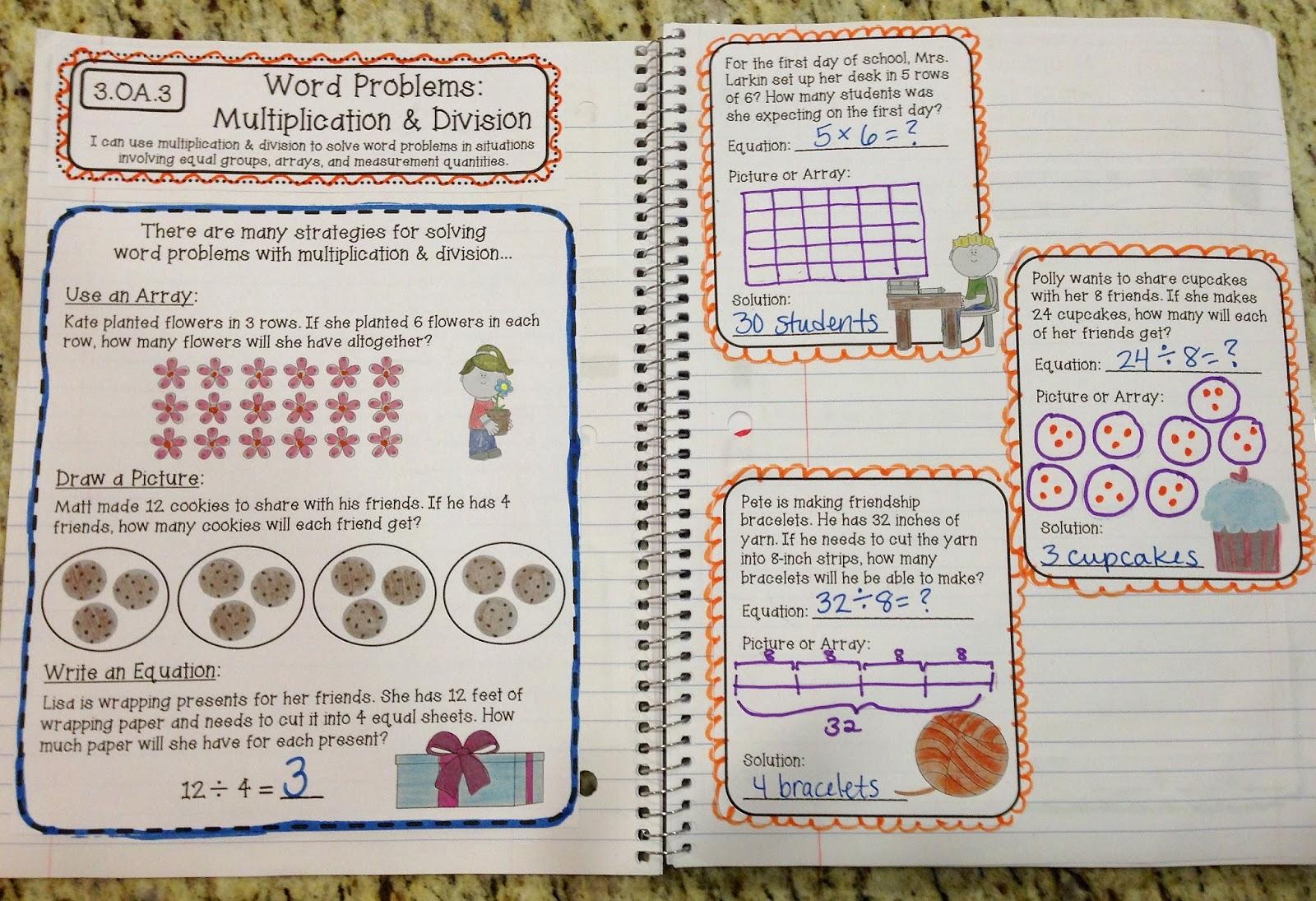 3rd Grade Interactive Math Notebook - 2nd Edition - Create○Teach○Share