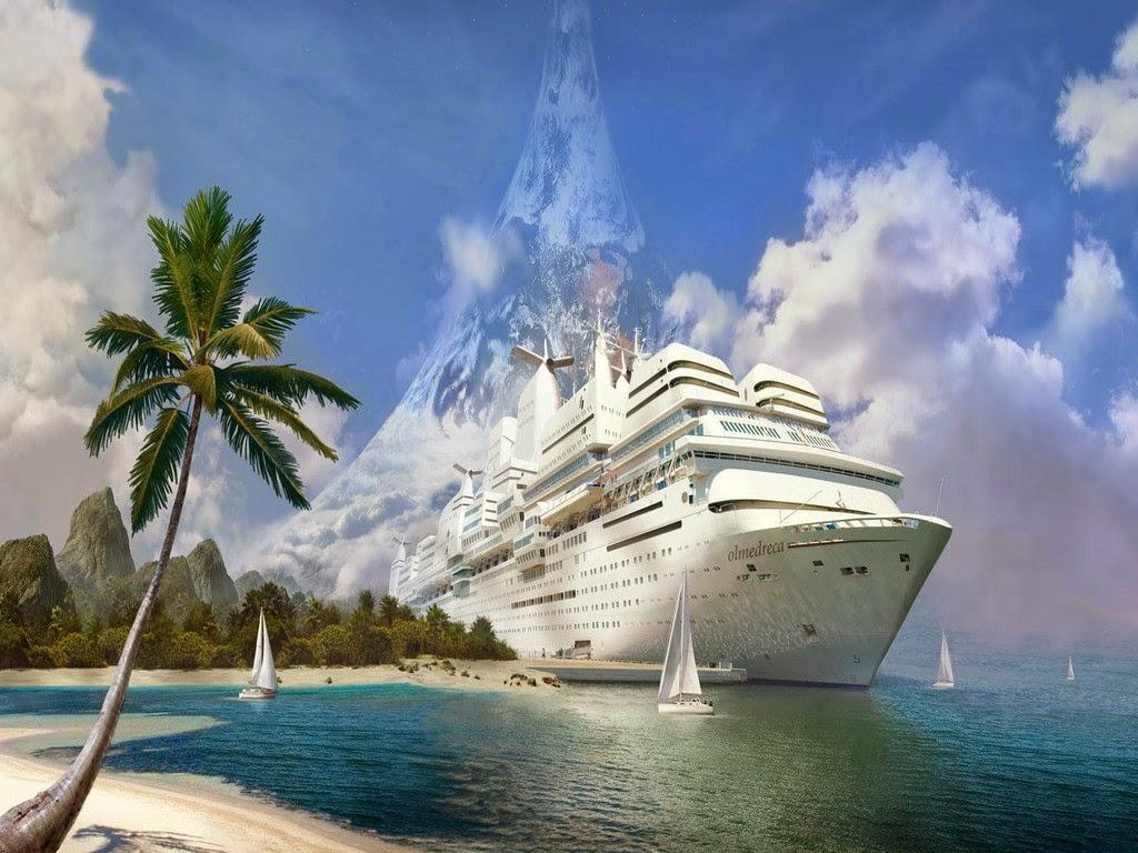 cruise ship near beach picture