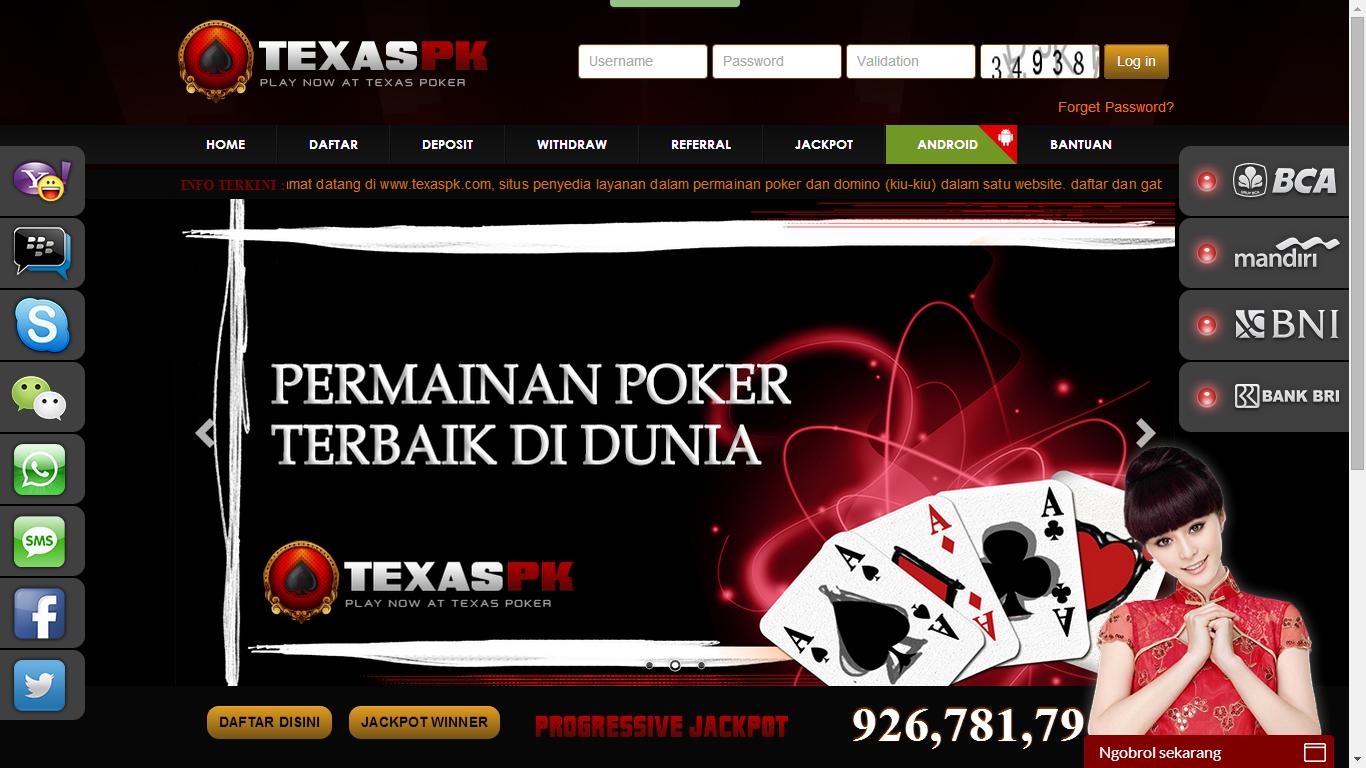 Texaspk.Com Agen Poker Dan Domino Online Terpercaya Deposit Kecil Tanpa Robot